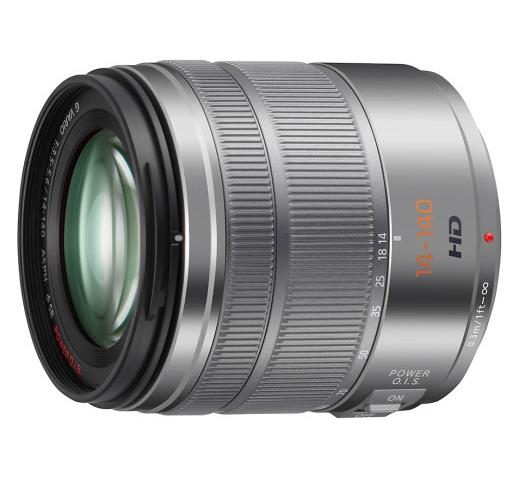 Panasonic MFT 14-140mm F/3.5-5.6 zilver HD power O.i.S. Lumix G Vario (H-FS14140S)