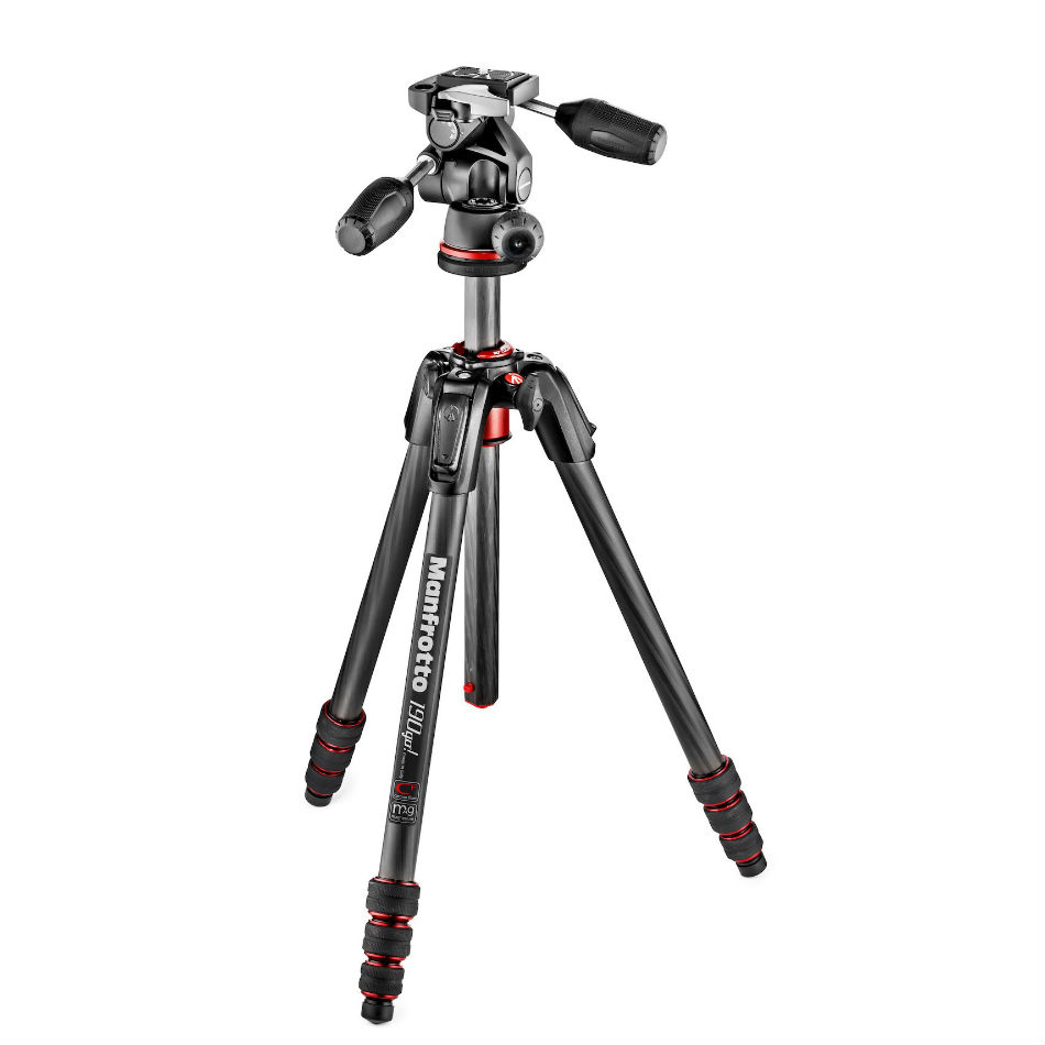 Manfrotto 190 GO! M Series Carbon Kit with 3-way Head