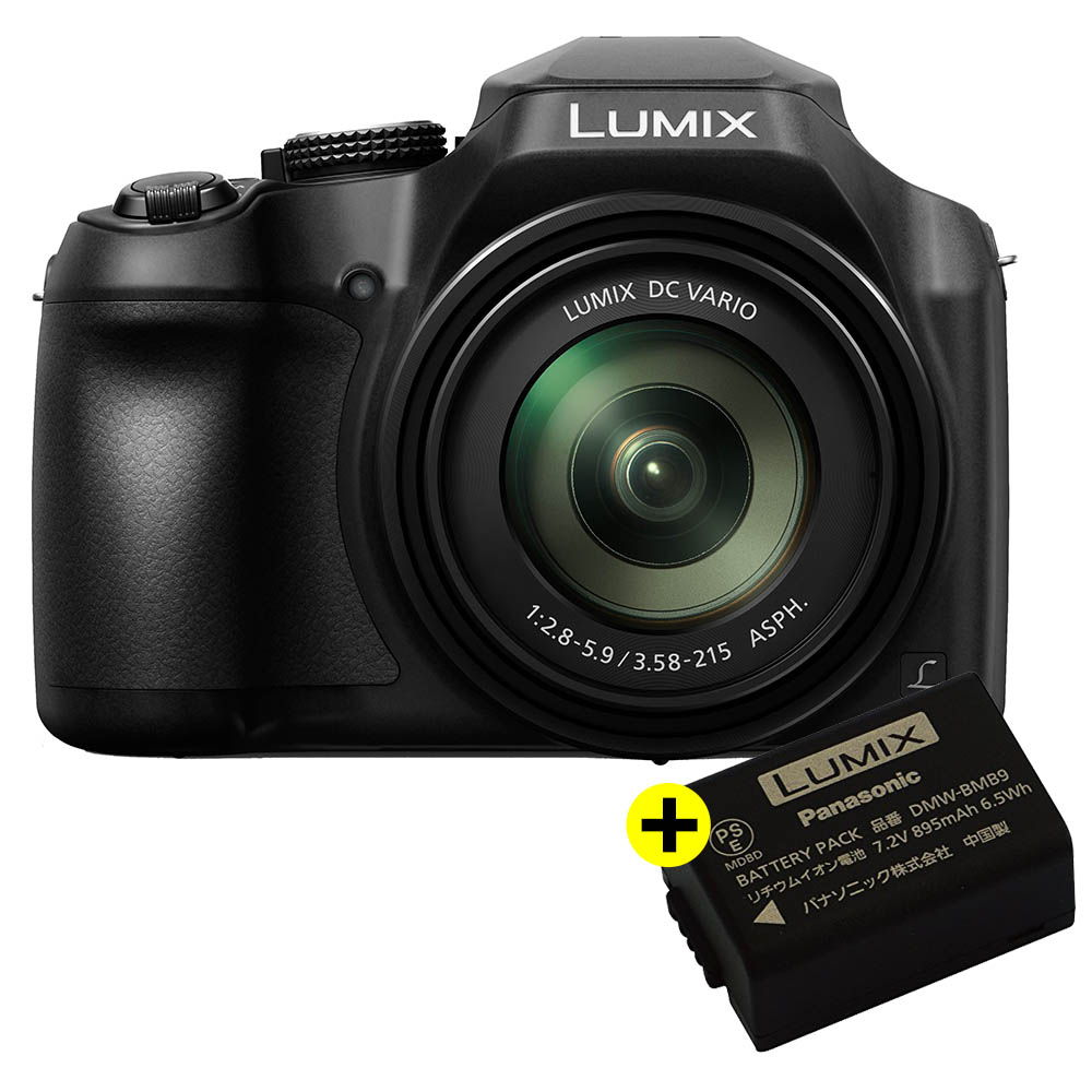 Panasonic Lumix DC-FZ82 + Panasonic BMB9E accu twv €39,95