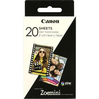 Canon Zoemini fotopapier 2x3inch (5x7,6cm) 20 vellen