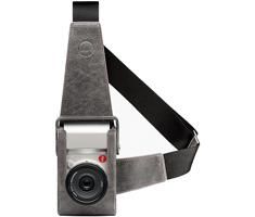 Leica 18809 Holster, leather, stone-grey