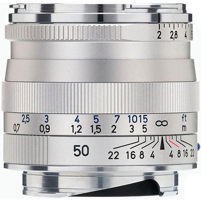 Zeiss 50mm F/2.0 Planar T* zilver ZM (Zeiss-Leica)