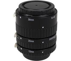 KAMERA EXPRESS tussenringen set ECO 12/20/36mm voor Nikon FX, DX