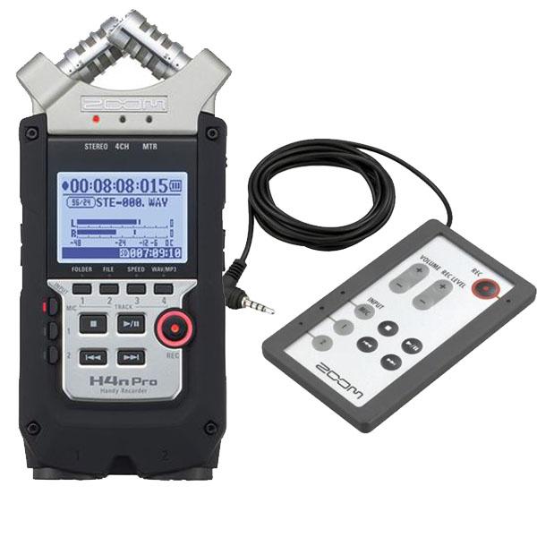 Zoom H4n Pro Handy Recorder + RC4 Remote Control