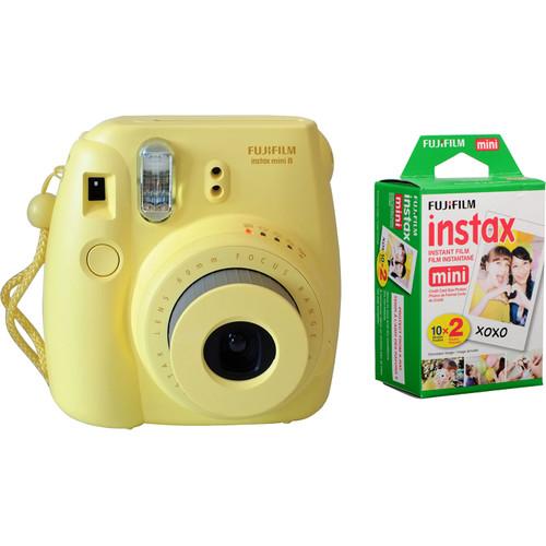 FujiFilm Instax Mini 8 geel + colorfilm glossy 10x2 pak