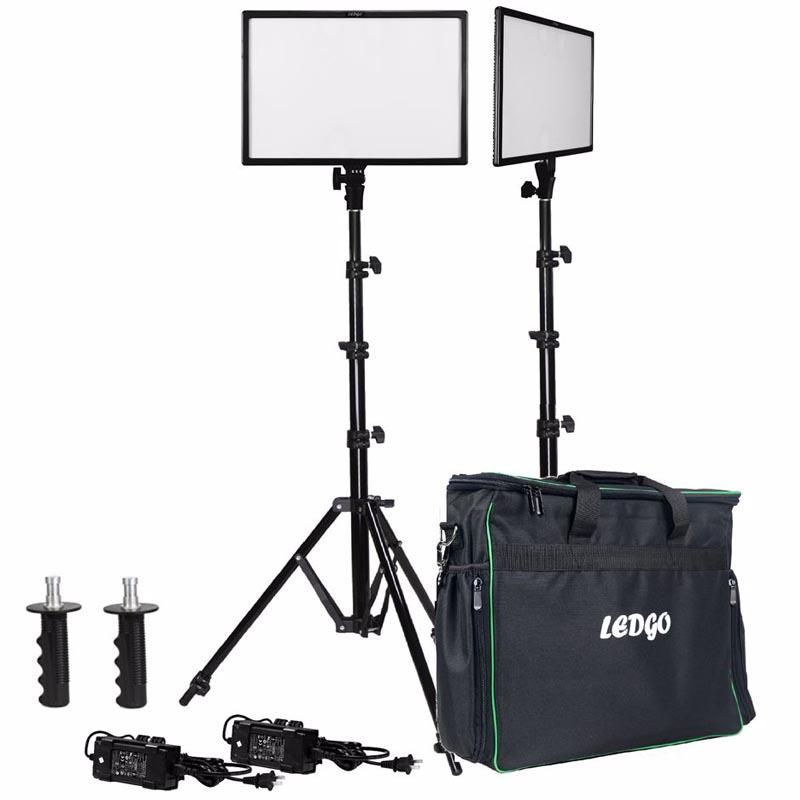 Ledgo E268C Bi-Color kit 2x LED + 2x Statief + Tas