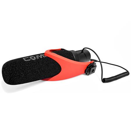 Comica Electrit Super-Cardioid Directional Shotgun Microphone rood