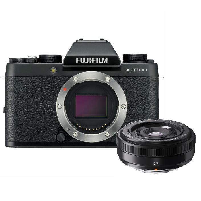 Fujifilm X-T100 + 27mm F/2.8 zwart