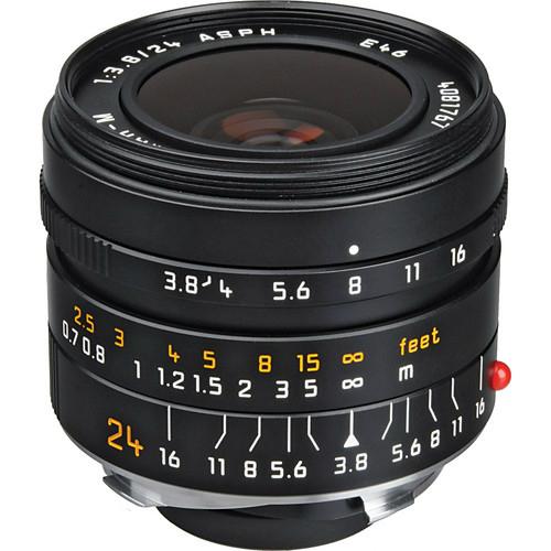 Leica 11648 Elmar-M 24mm F/3.8 ASPH zwart Outlet