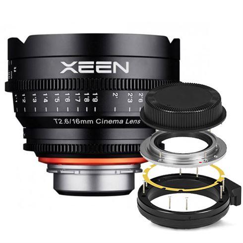 Xeen 16mm T2.6 FF Cine Canon EF + GRATIS Mount Kit MFT