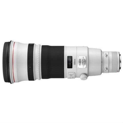 Canon EF 500mm F/4.0 L iS USM II + ET-138 WII (zonnekap) + transport case