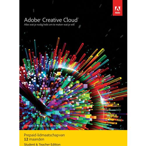 Adobe Creative Cloud Student & Docent versie - 1 gebruiker - 1 Jaar - (Windows/Mac)