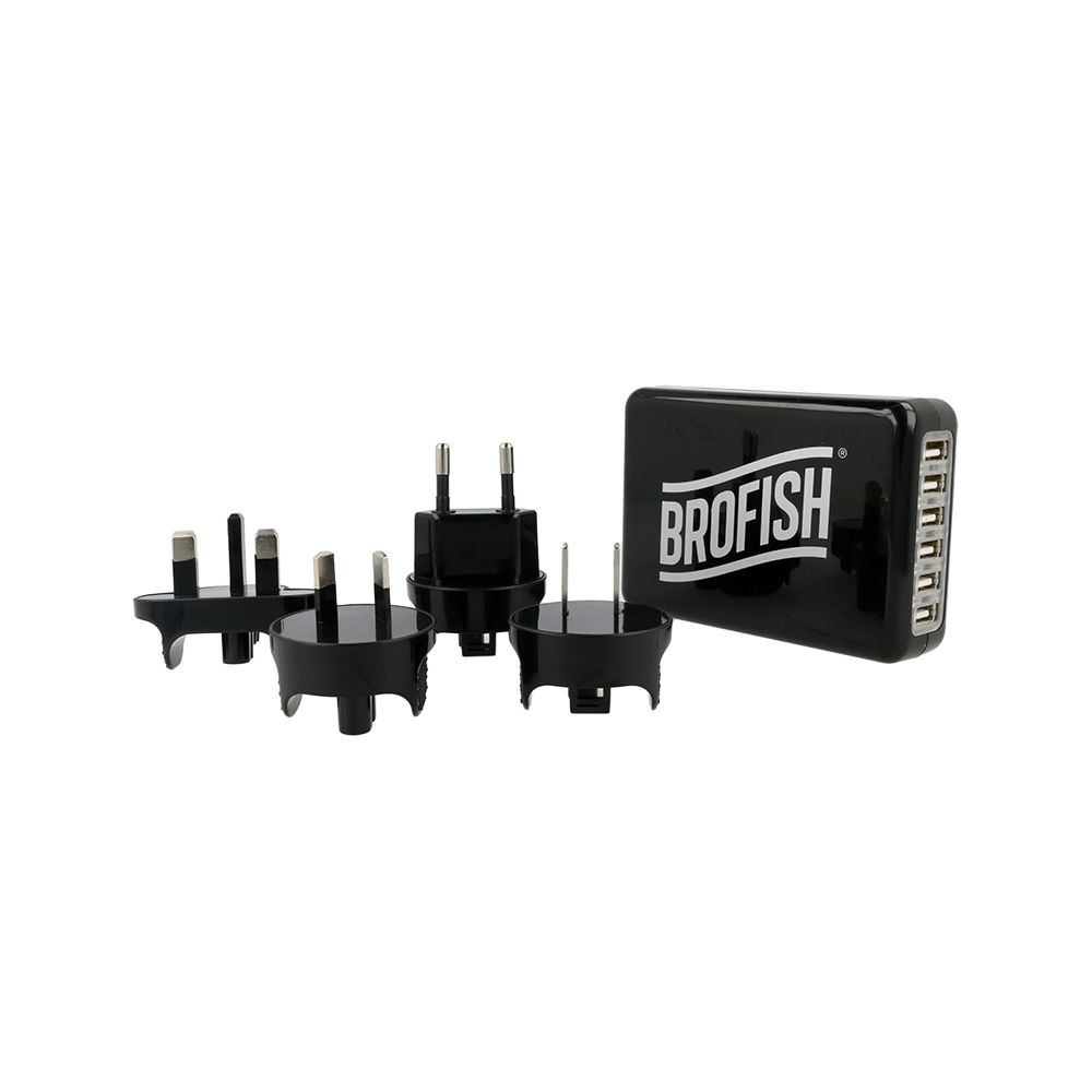 Brofish Usb Wallcharger 6 Port Black