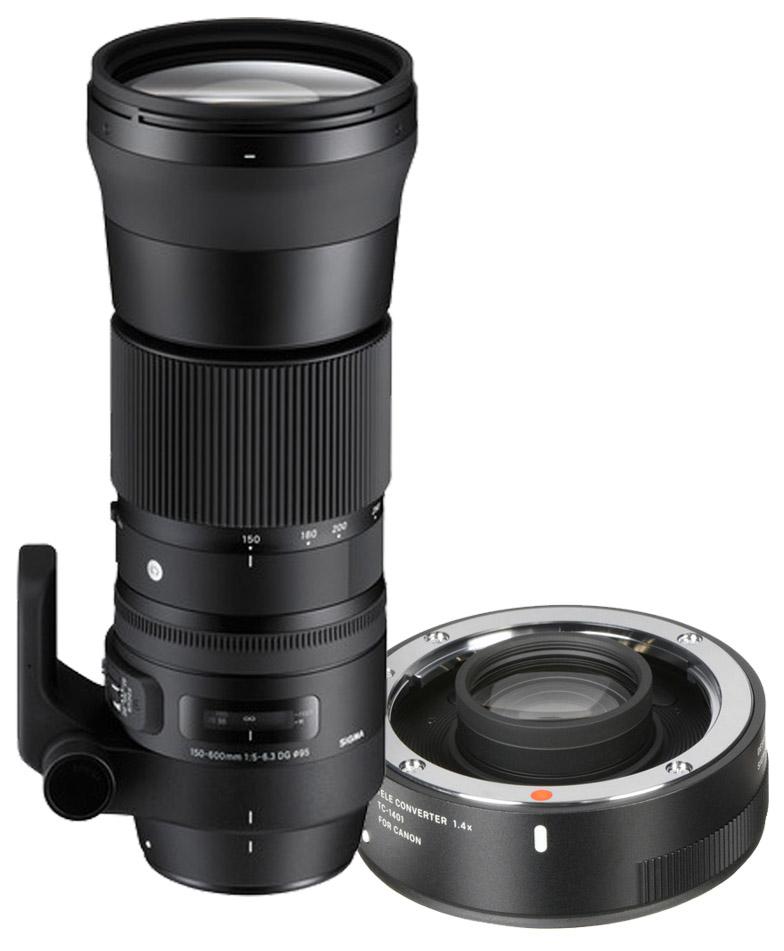 Sigma 150-600mm F/5-6.3 DG OS HSM Contemporary Canon + TC-1401 (1.4x) Teleconverter