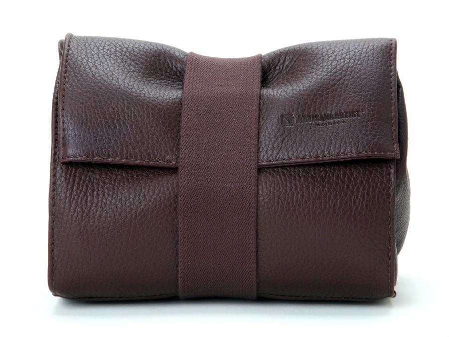 Artisan & Artist ACAM 78 Leather Pouch Brown