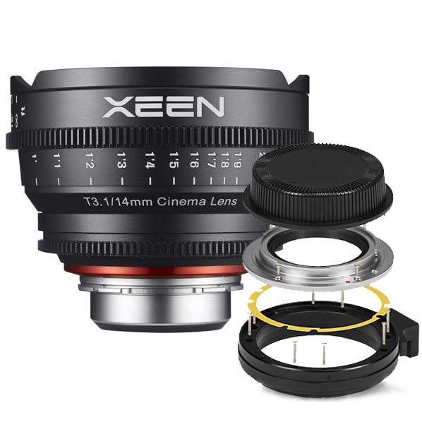 Xeen 14mm T3.1 FF Cine Canon EF + Mount Kit Sony E