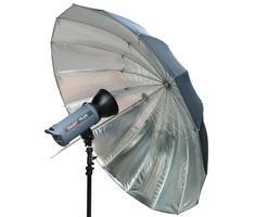 Bresser SM-09 jumbo paraplu 180cm zilver/ zwart