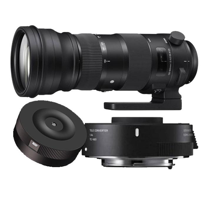 Sigma 150-600mm F/5-6.3 DG OS HSM Sports Canon + TC-1401 + USB Dock