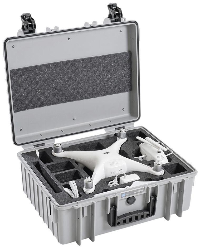 B&W outdoor.cases Copter.case type 6000 grijs + Hardfoam DJI Phantom 4