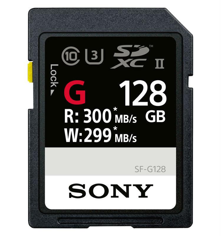 Sony SDXC 128GB Extra Pro G Class 10 UHS-II R300 W299 (SFG1G)