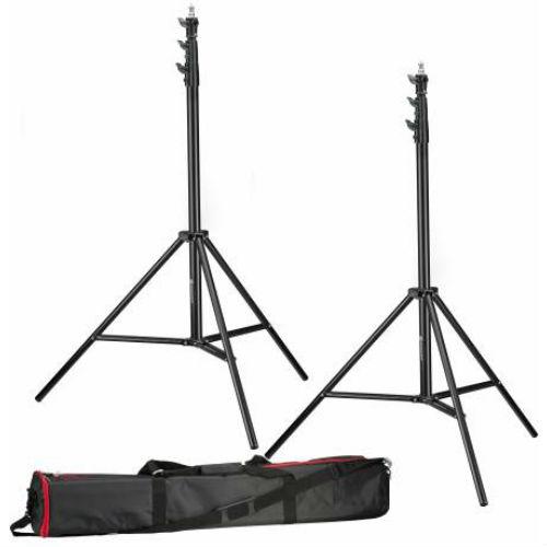 Bresser 2x BR-TP280 Pro Lampstatief 280cm + tas