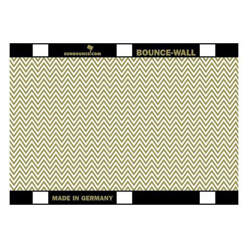 Sunbounce Reflector 20x28cm ZEBRA goud/wit voor BOUNCE-WALL