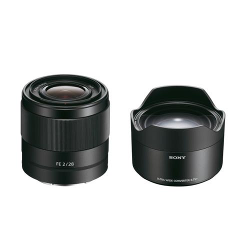 Sony SEL 28mm F/2.0 FE + 075UWC Ultra Wide Converter (SEL28F20UWCDI.EU)