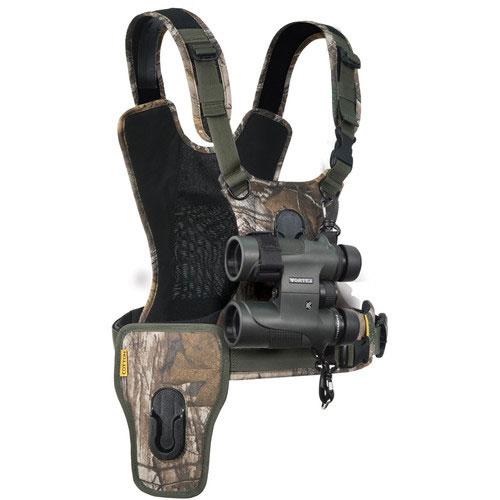 Cotton Carrier Camera Harness voor 1 camera + 1 verrekijker Realtree XTRA Camo