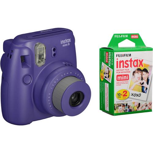 FujiFilm Instax Mini 8 lila + colorfilm glossy 10x2 pak