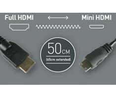 Atomos Coiled Mini HDMI to Full HDMI (50-65cm)