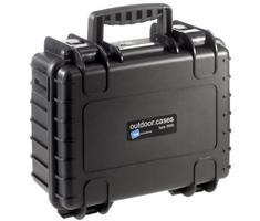 B&W outdoor.cases type 3000 zwart + verdeler