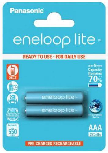 Panasonic Eneloop Lite 2x (AAA/HR03) 550mAh