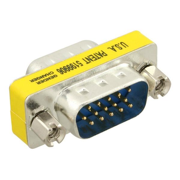 Valueline VGA-Adapter Male - VGA Fem. 15-p Metaal