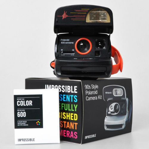 Impossible Refurbished 90s Style 600 Camera + 1 Film