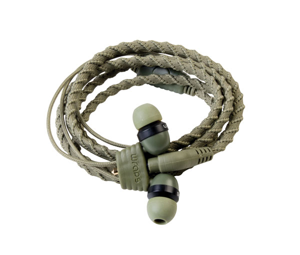 Wraps Classic Cloth Wrap in ear headphone Camo with Mic