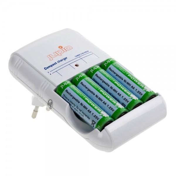 Jupio Compacte Lader (incl. 4x AA Direct Power batterijen)