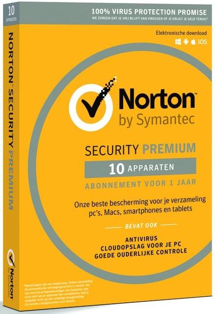 Norton Security Premium 3.0 (10 devices, 1 year) NL