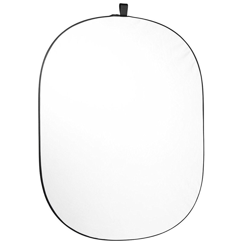 Caruba Opvouwbare Achtergrond Zwart/Wit Katoen 150x200 cm