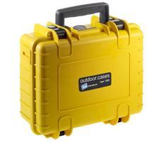 B&W outdoor.cases type 1000 geel leeg