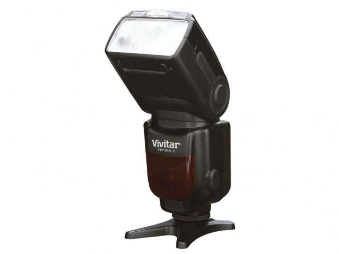 Vivitar Serie1 DSC 583 flitser met diffusor voor Nikon TTL