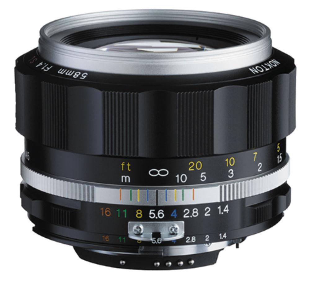 Voigtlander Nokton 58mm F/1.4 SLII-S zilver voor Nikon AI-S