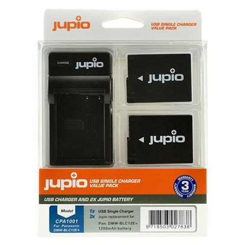 Jupio Kit met 2x Battery DMW-BLC12E + USB Single Charger