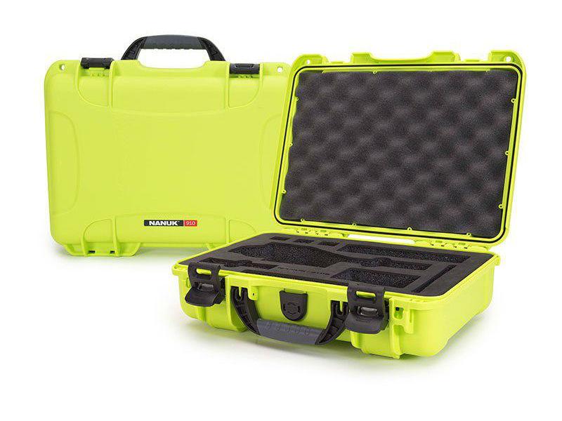 Nanuk 910 Case Lime with Foam Insert for DJI Osmo+