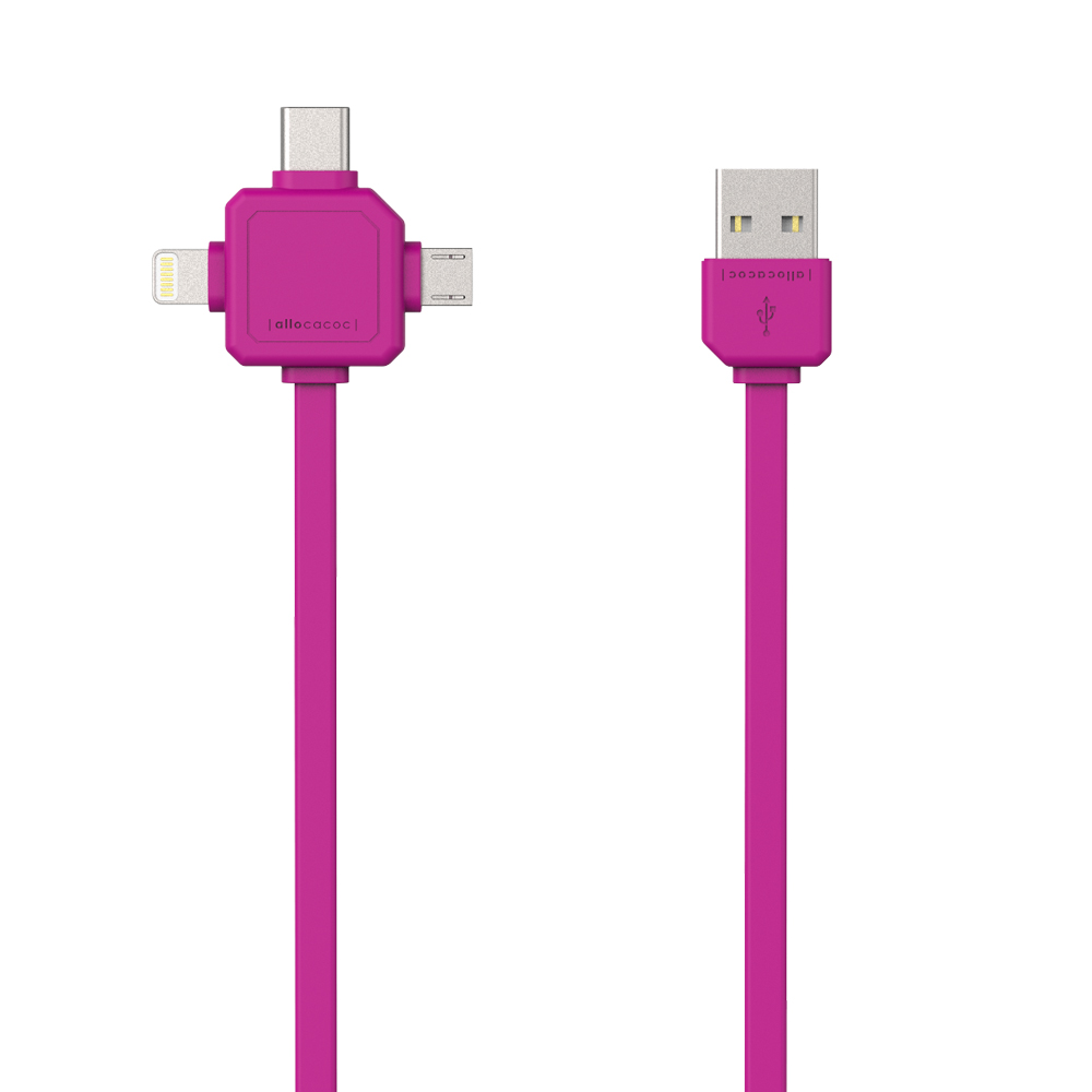 Allocacoc USBcable | USB-C Pink