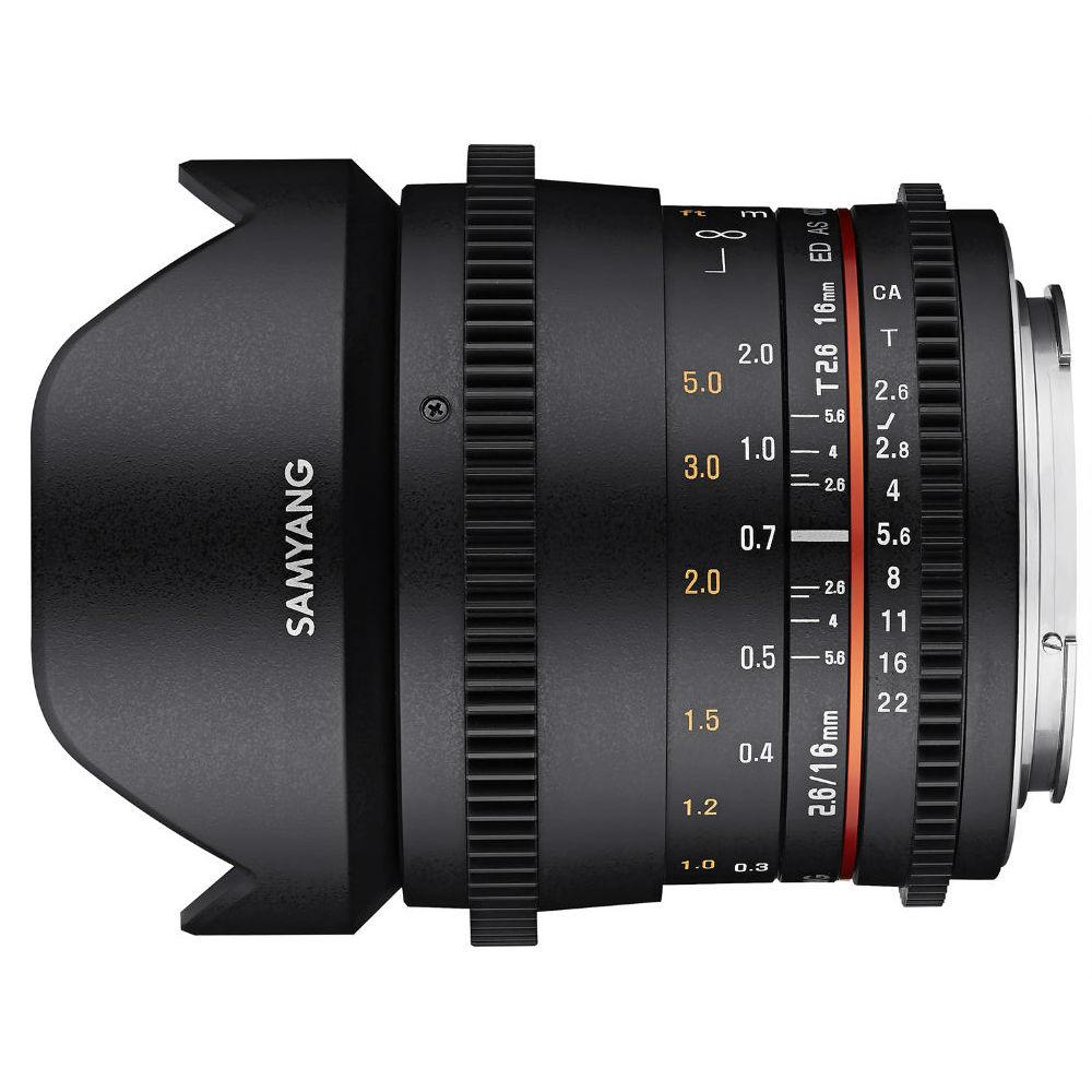 Samyang 16mm T2.6 VDSLR ED AS UMC Canon M