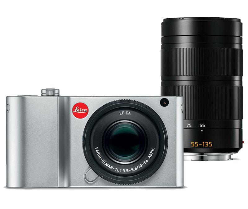 Leica TL2 zilver + Vario-Elmar-TL 18-56mm ASPH + 55-135mm ASPH