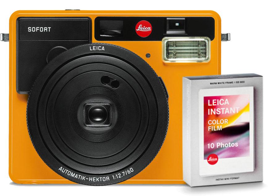 Leica SOFORT camera oranje + Kleurenfilm 10x