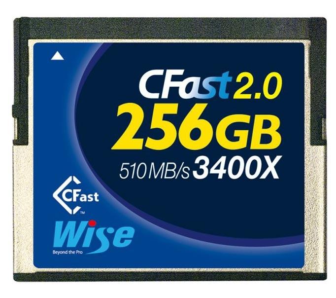 Wise 256GB CFast 2.0 3400X Geheugenkaart