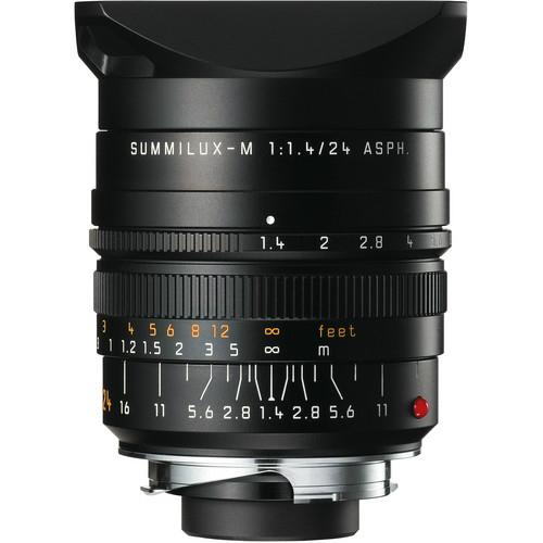 Leica 11601 M 24mm F/1.4 Summilux ASPH zwart Finish 11601 Outlet
