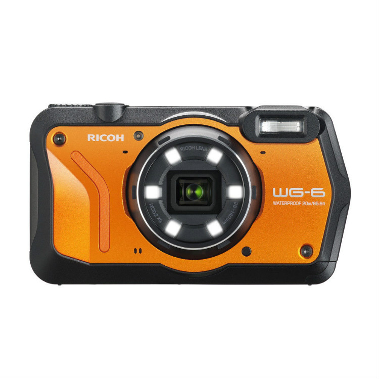 Ricoh WG-6 oranje PRE ORDER